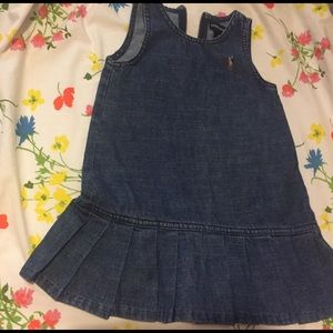 Ralph L. Polo 2year Pinafore in Denim